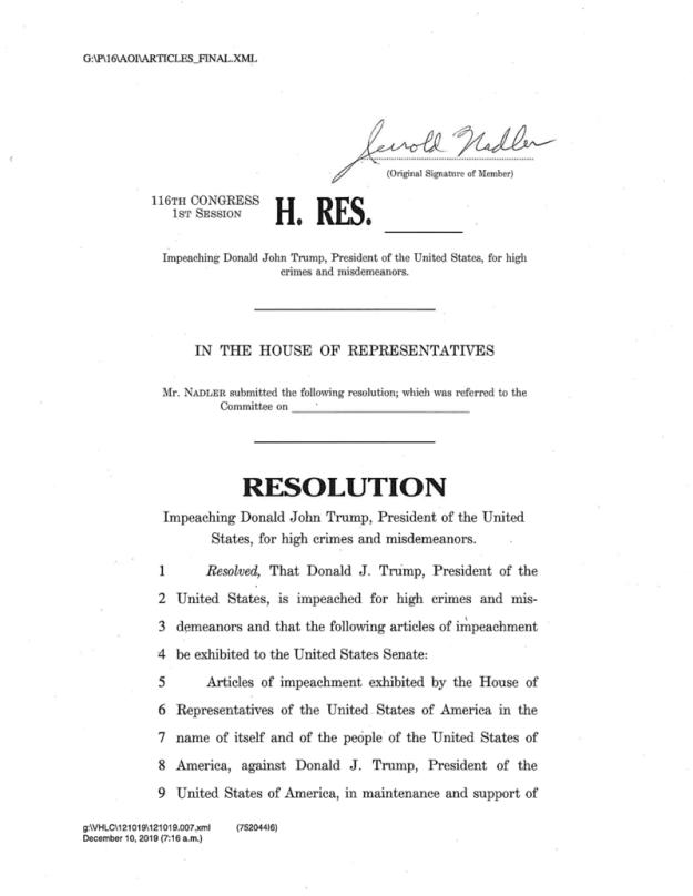 Impeachment Letter 1