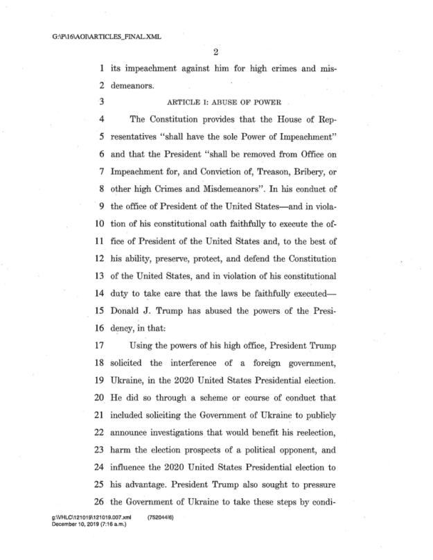 Impeachment Letter 2