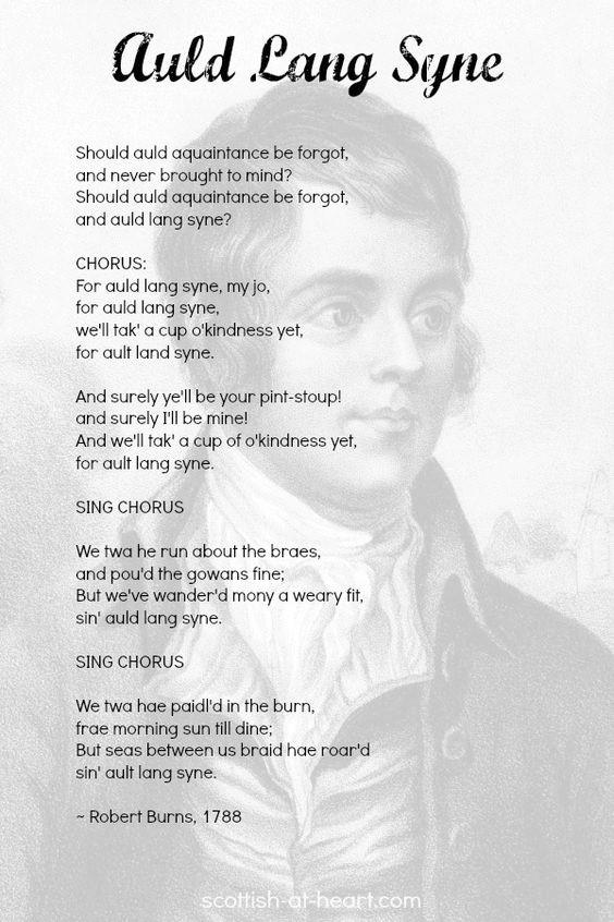 Auld Lang Syne Poem