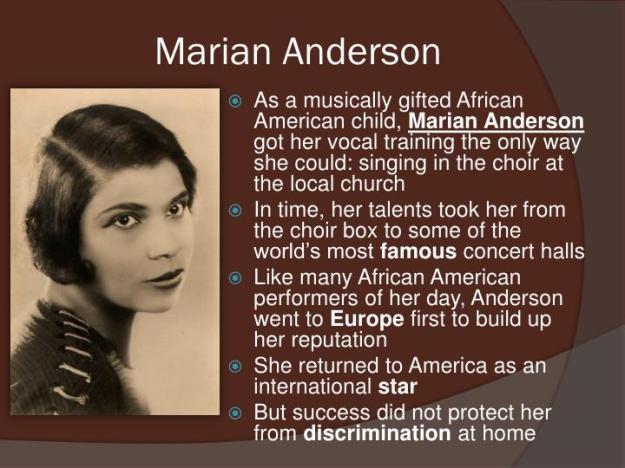 Marian Anderson Biography 2